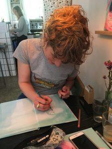 Zarah Juul tegner i Lillebitte Lilli - Christine Lund Jakobsen